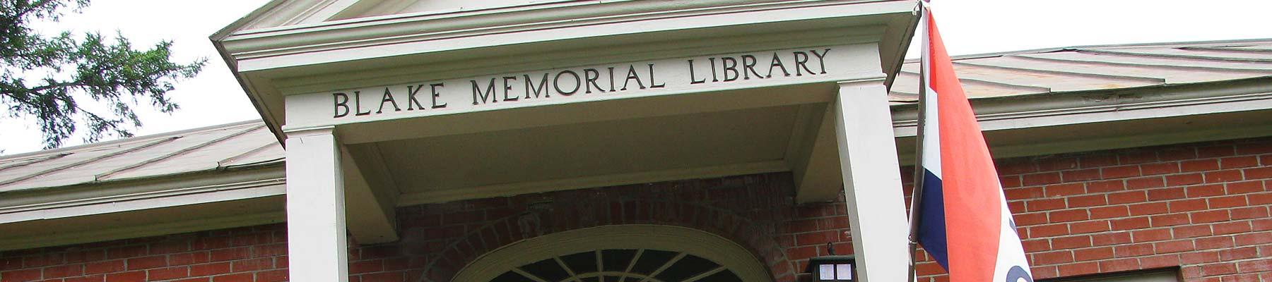 Blake Memorial Library entrance