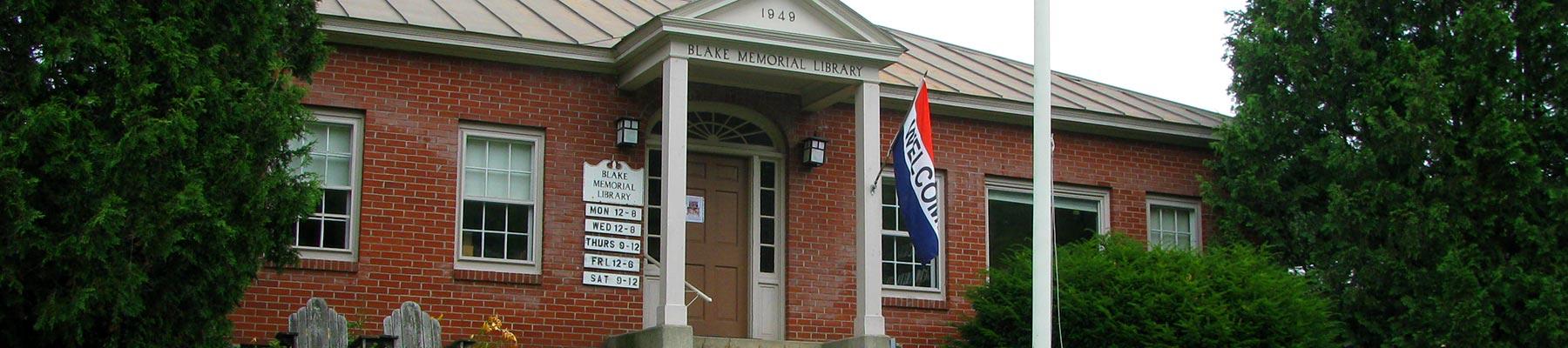 Services - Blake Memorial Library - Corinth Vermont