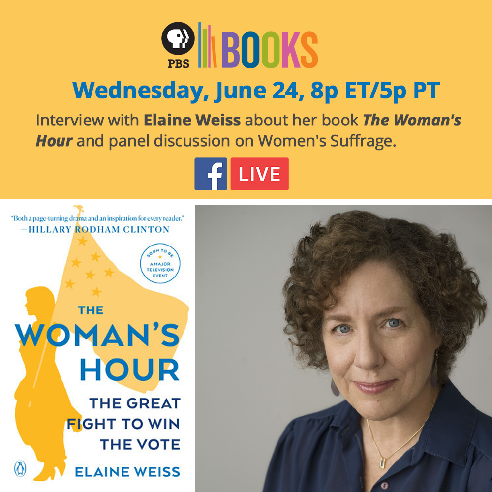 Flier for the Facebook Live event: An Interview with Elaine Weiss